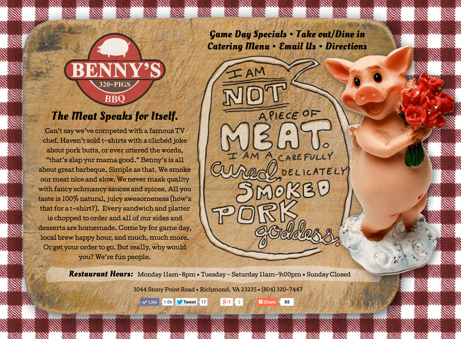 Benny's BBQ (Website)