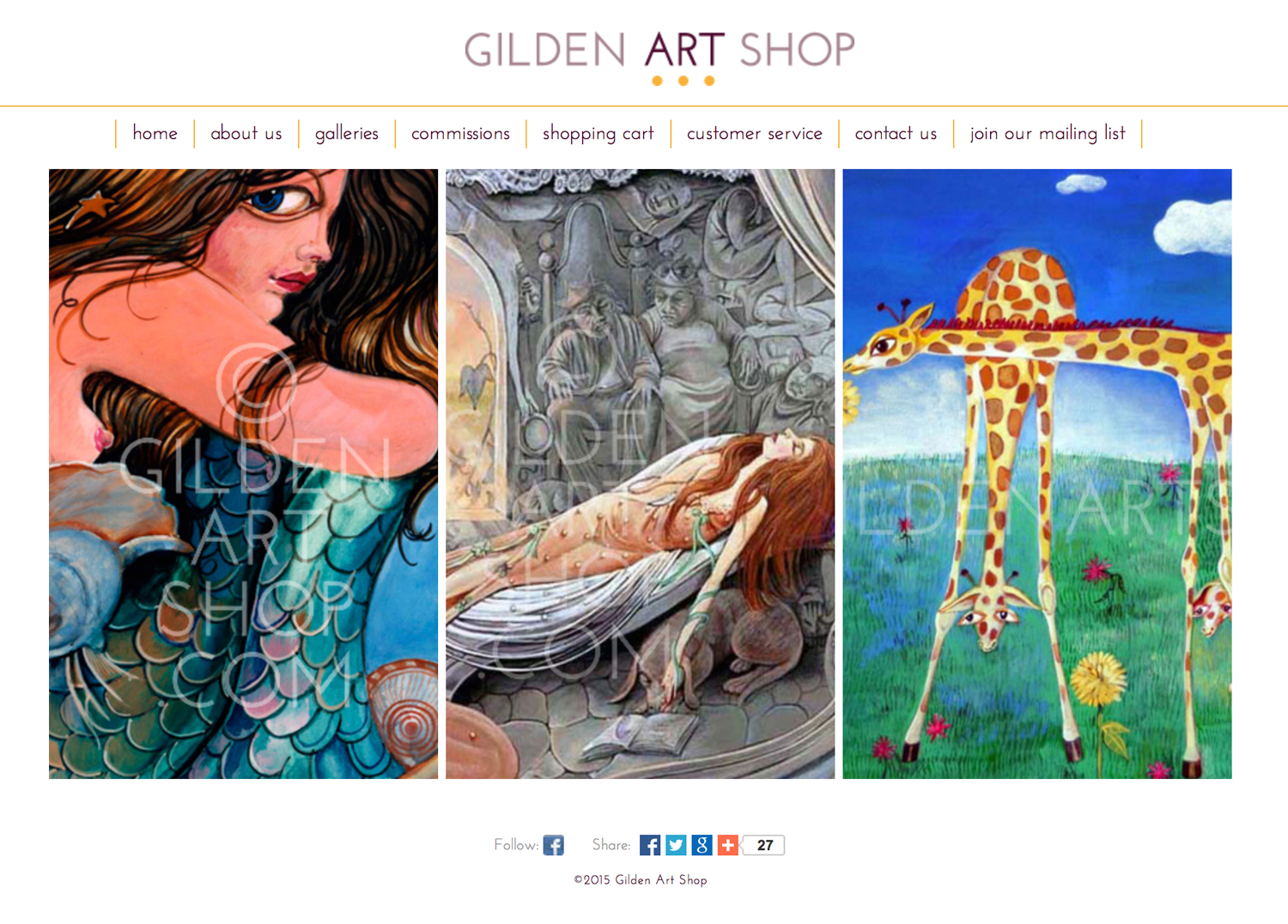 Gilden Art Shop (Website)