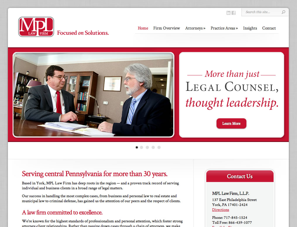MPL Law (WordPress Website)