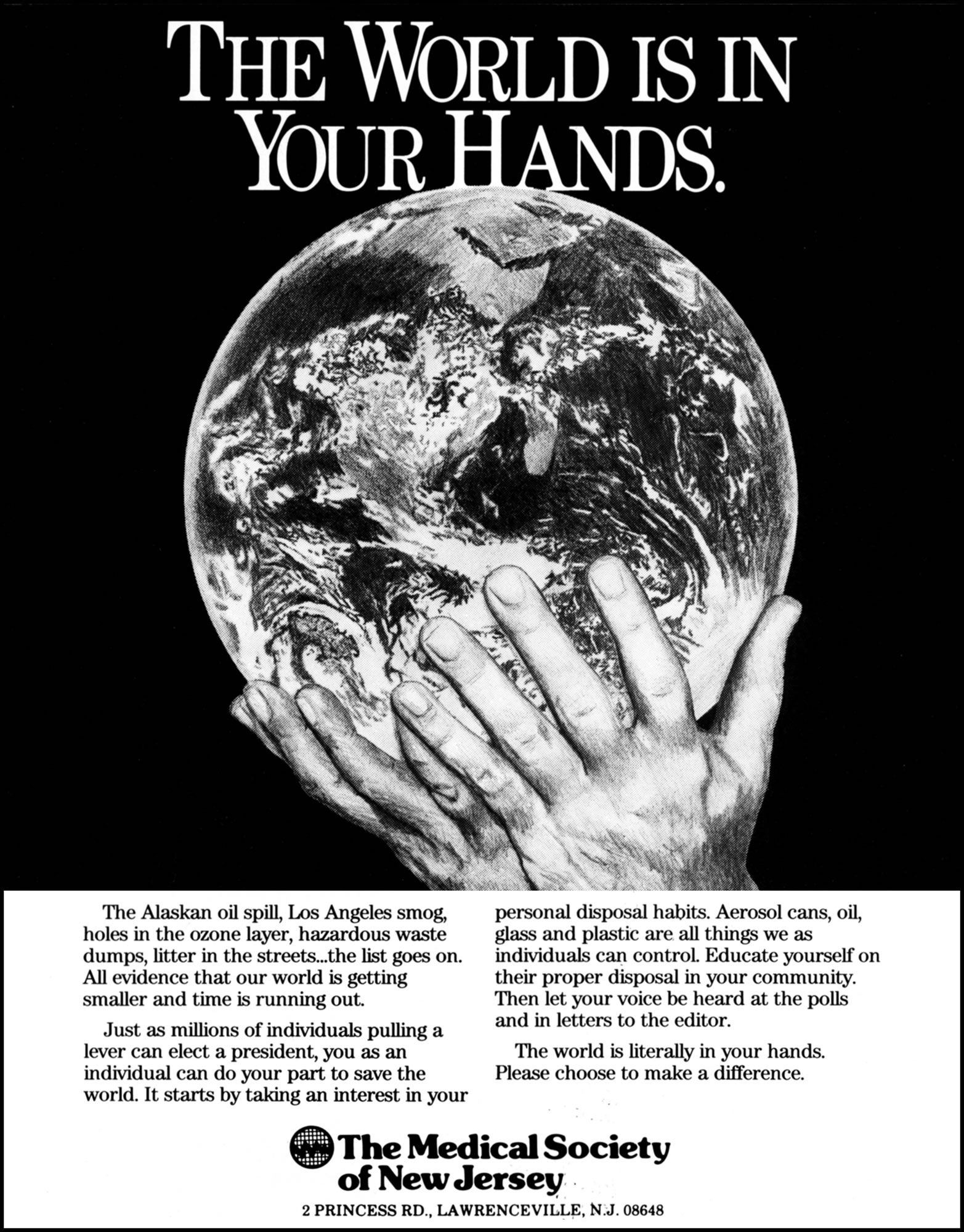 Medical Society of New Jersey - World In Hands (Illustration)