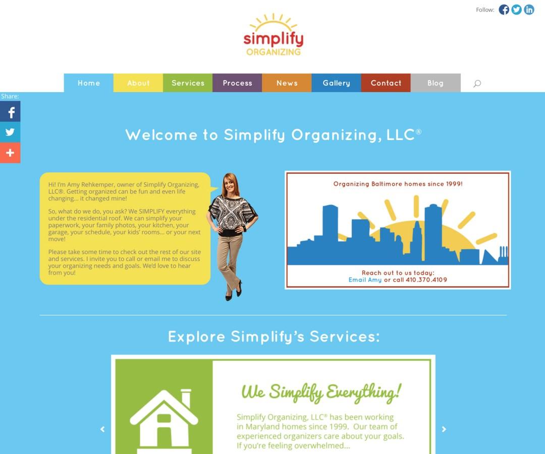 Simplify Organizing (WordPress)