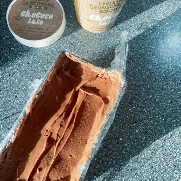 vegan ijstaart met chocolade