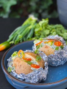 bbq gepofte aardappel
