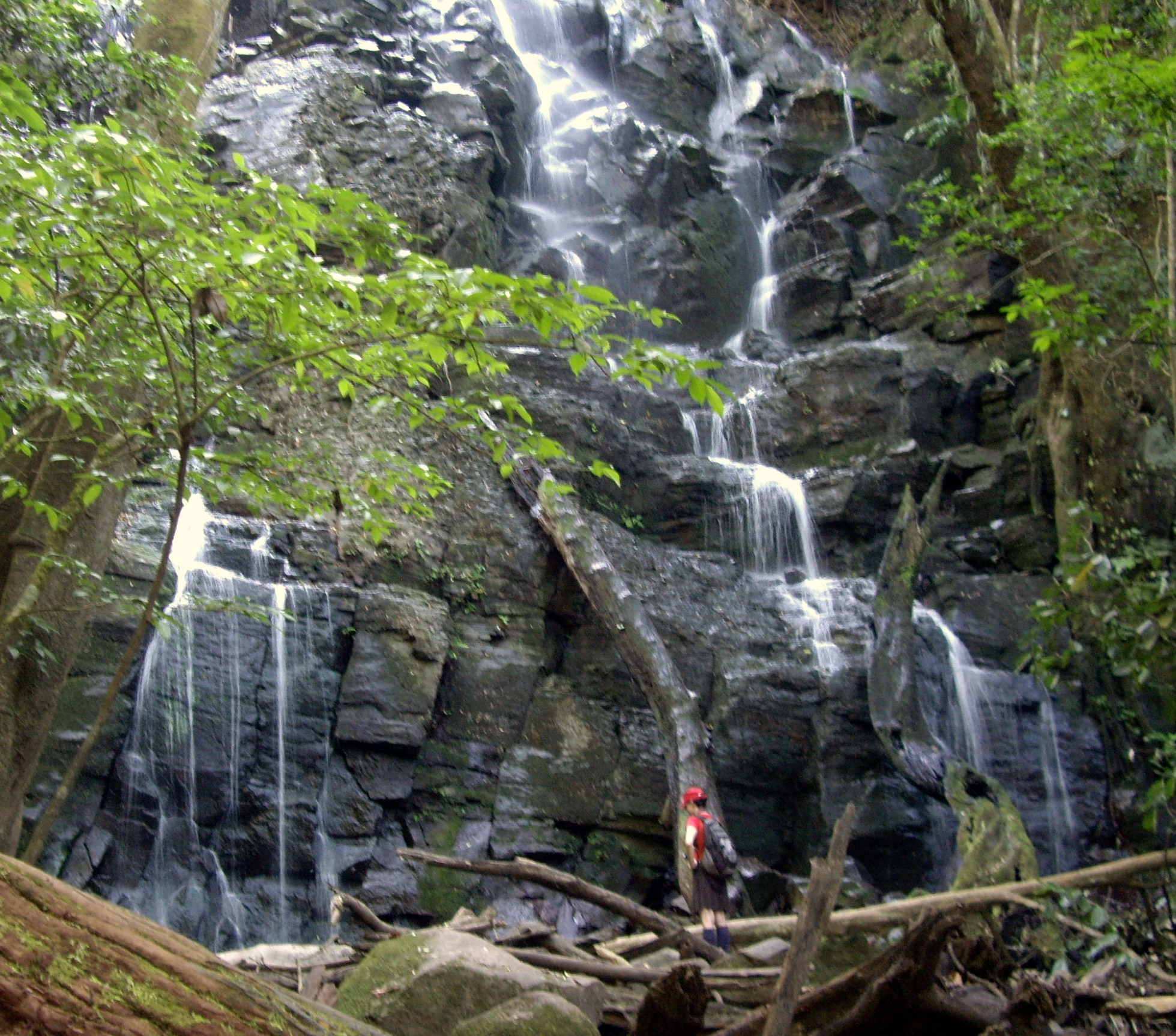 měřítko - já a vodopád, Rincon de la Vieja