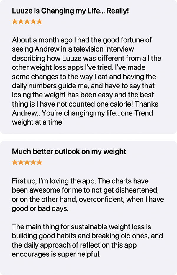 Reviews of Luuze Weight Loss Coach