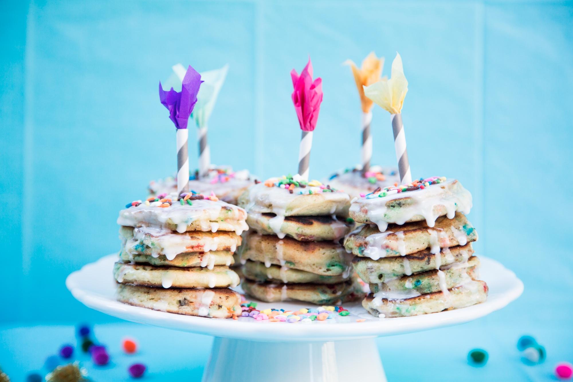Mini Birthday Pancakes