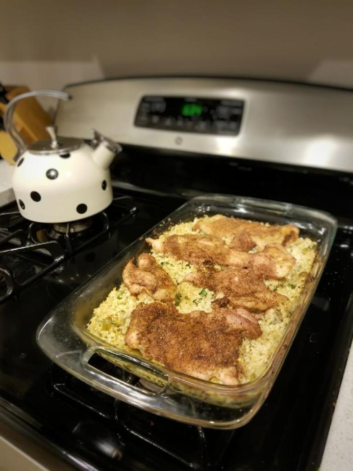 Whole 30 Chicken and Mediterranean-Style Cauliflower
