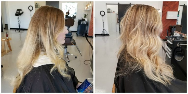 Salty Blonde Before and After