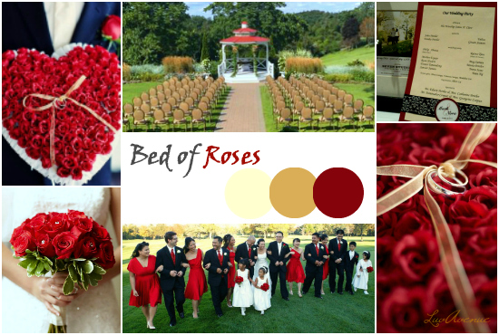 Bed of roses wedding