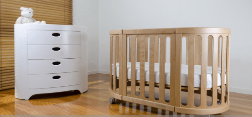 Cocoon Nest cot and chest
