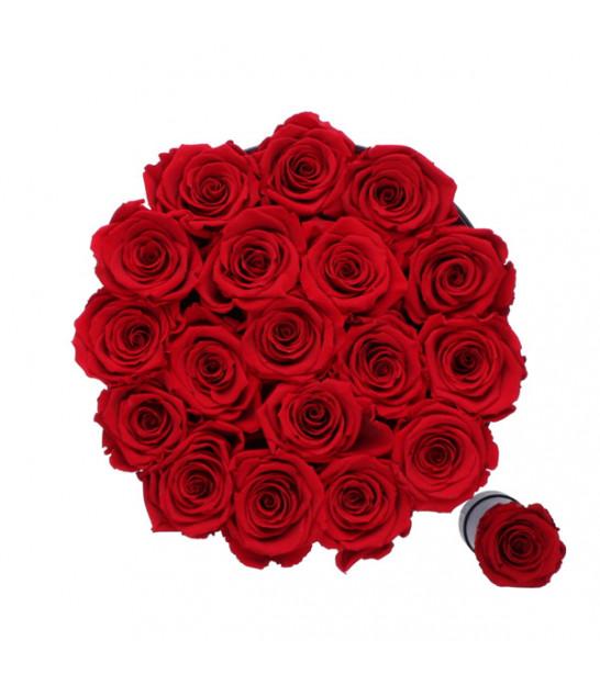 livraison boite de roses eternelles