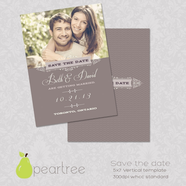 Save Date Wedding Template