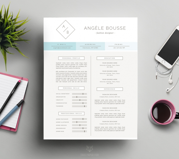 minimalist resume template and free cover letter f print