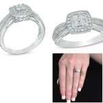 Zales:  Quad Diamond Accent Square Frame Sterling Silver Promise Ring $25.95 + Free Store Pickup!!