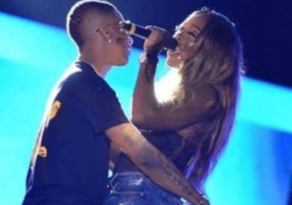 Wizkid and Tiwa Savage Share Kiss On Stage In Paris (Video)