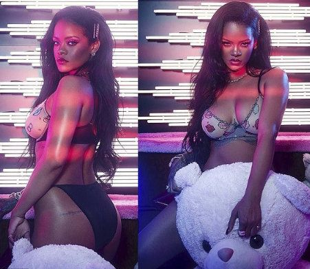 Rihanna Posts Her Hot Pics In Racy Lingerie  (Photos)