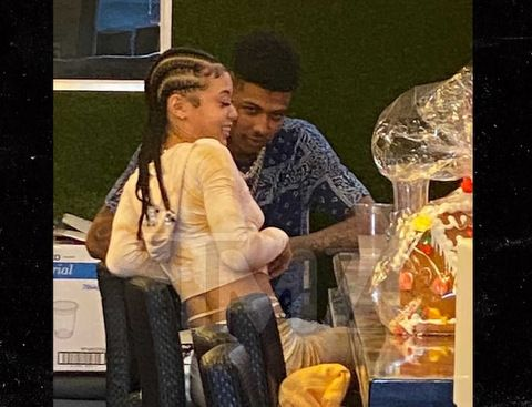 Blueface gets cozy with Coi Leray during lunch date