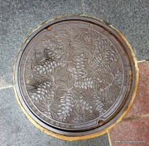 Minneapolis Nicolette Mall Public Art Manhole covers trees