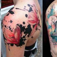 25 Amazing Watercolor Tattoos