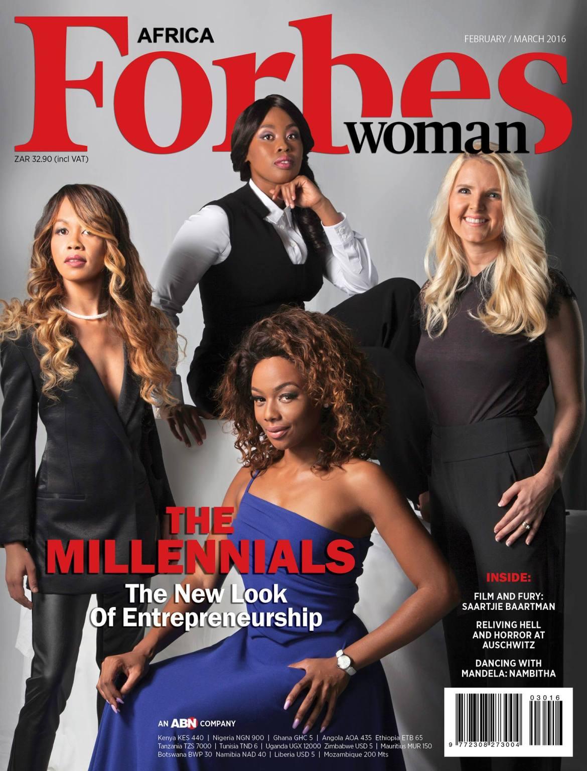 Photo Credit: Forbes Africa - Bonang Matheba, Aisha R Pandor, Thato Kgatlhanye & Claire Reid