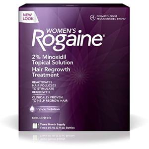 Women's Rogaine 2% Minoxidil Topical Solution for Hair Thinning and Loss