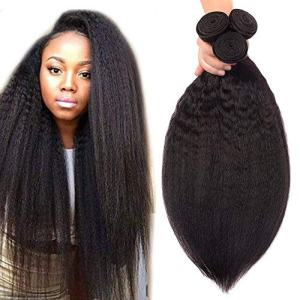 Odir Brazilian Kinky Straight Human Hair 3 Bundles