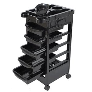 Salon SPA Trolley Storage Cart Coloring Beauty Salon Hair Dryer Holder