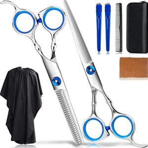 8Pcs Professional Hair Cutting Scissors Set/Hair Thinning Shears Kit/Salon