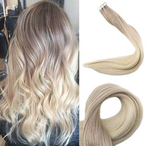 Full Shine 20 inch 50 Gram Ombre Tape In Hair Extensions Color