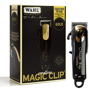 Wahl Professional 5-Star Limited Edition Black & Gold Cordless Magic Clip