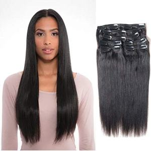 Vanalia 9A Perm Yaky hair extensions clip in human hair