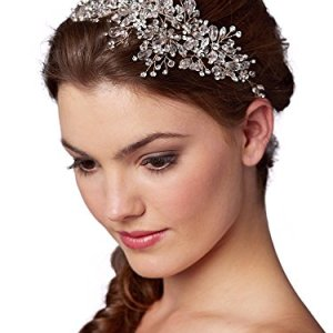 Mariell Rose Gold Crystal Bridal Headpiece Hair Vine