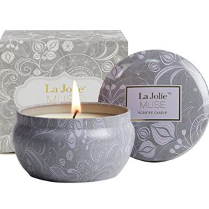 LA JOLIE MUSE Scented Candles Blue Lotus Aromatherapy Candle Soy Wax