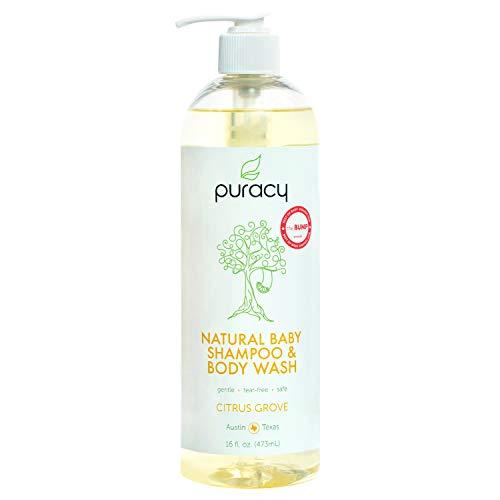 Puracy Natural Baby Shampoo & Body Wash, Tear-Free Soap, Sulfate-Free