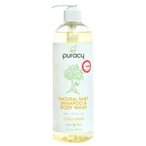 Puracy Natural Baby Shampoo & Body Wash, Tear-Free Soap, Sulfate-Free