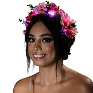 Light Up Flower Crown (Midsummer Rose)