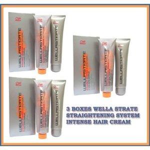 3 Boxes Wella Strate Straightener Straightening System Intense Hair Cream
