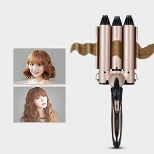HAIHF 3 Barrels Curler,Ceramic Curling Iron Wand,Professional Portable Tourmaline