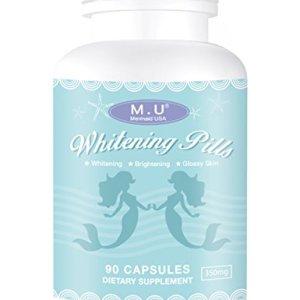 M.U Mermaid USA Whitening Pills for Skin 3 Times Effect of glutathione
