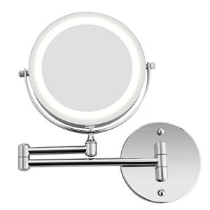 Bazal Makeup Mirror Wall Mount 5X Magnifying Mirror LED Lighted Cosmetic