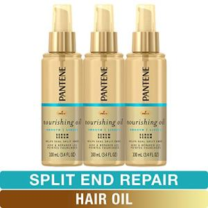 Pantene Hair Oil Treatment Serum, Pro-V Lightweight Nourishing Split End Repair