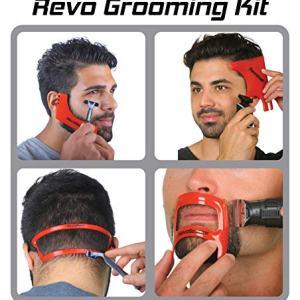 Revo Haircut Kit - Beard, Hair, Goatee, and Neckline Shaving Template Guide