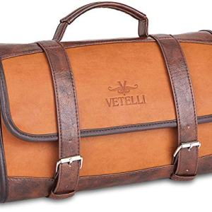 Vetelli Hanging Toiletry Bag for Men - Dopp Kit/Travel Accessories Bag