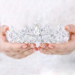 Aukmla Wedding Hair Accessories Bride Crowns Flower Queen