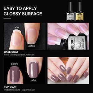 Modelones Gel Nail Polish Starter Kit, with 6W LED Lamp Base Top Coat