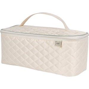 Ellis James Designs Large Travel Makeup Bag Organizer - Cosmetic Train Case