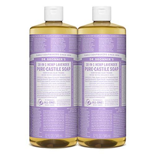 Dr. Bronner's - Pure-Castile Liquid Soap (Lavender, 32 ounce, 2-Pack)