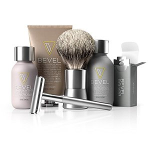 Bevel Shave System - Large Kit. Safety Razor, Shave Cream