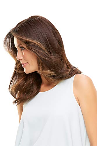 """Easipart HD 18"""" Synthetic Clip-in Topper by Jon Renau, Wide Tooth Comb Easipart HD 18"""" Synthetic Clip-in Topper by Jon Renau, Wide Tooth Comb, Mara Ray 4oz Luxury Shampoo, 19 Page Belle of Hope Wig Care Booklet, Bundle 4pc (10H24B)."""