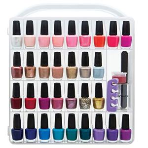 Nail Polish Organizer Storage Holder case - Stores 64 Bottles